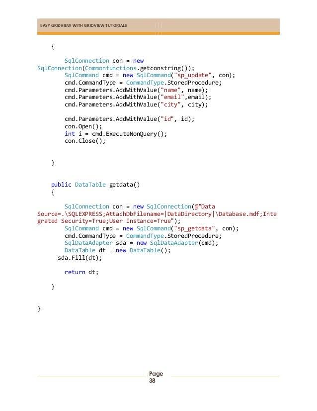 Step by Step Asp Net GridView Tutorials
