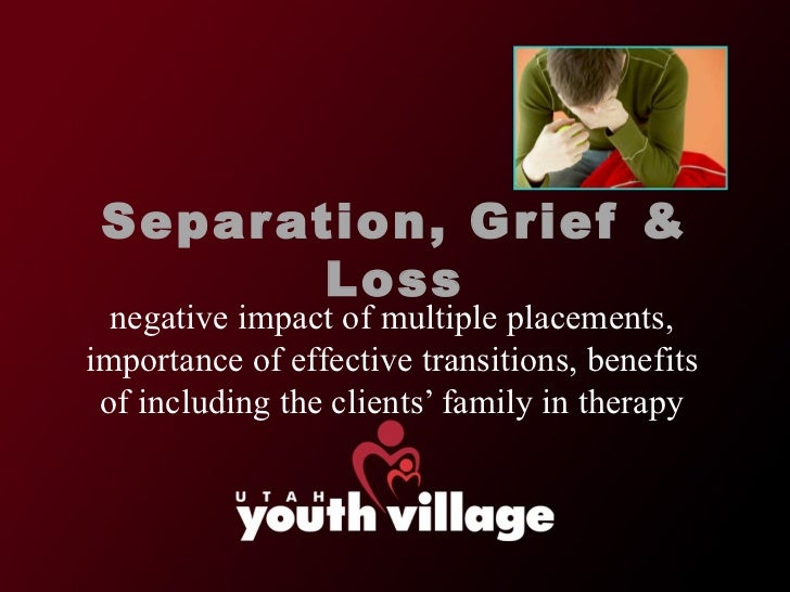 Separation, Grief & Loss negative impact of multiple placements, importance of effective transitions, benefits of includin...