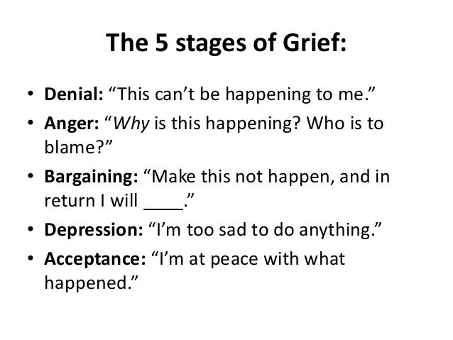 The grieving process of a breakup