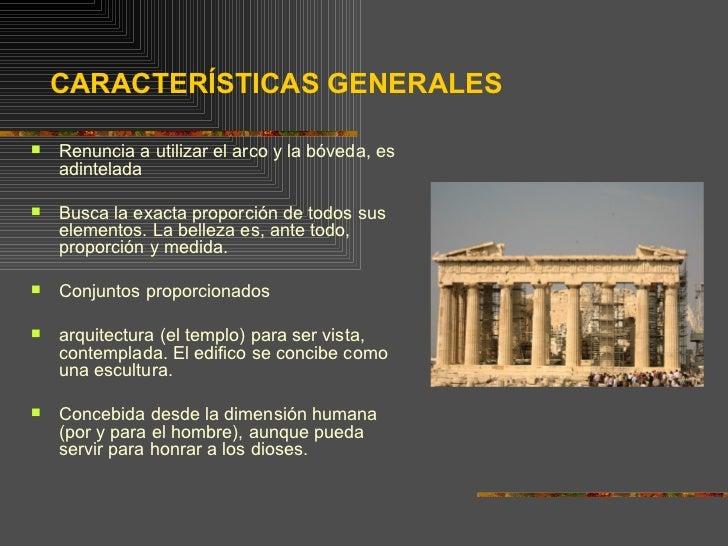 Arquitectura griega for Caracteristicas de la arquitectura