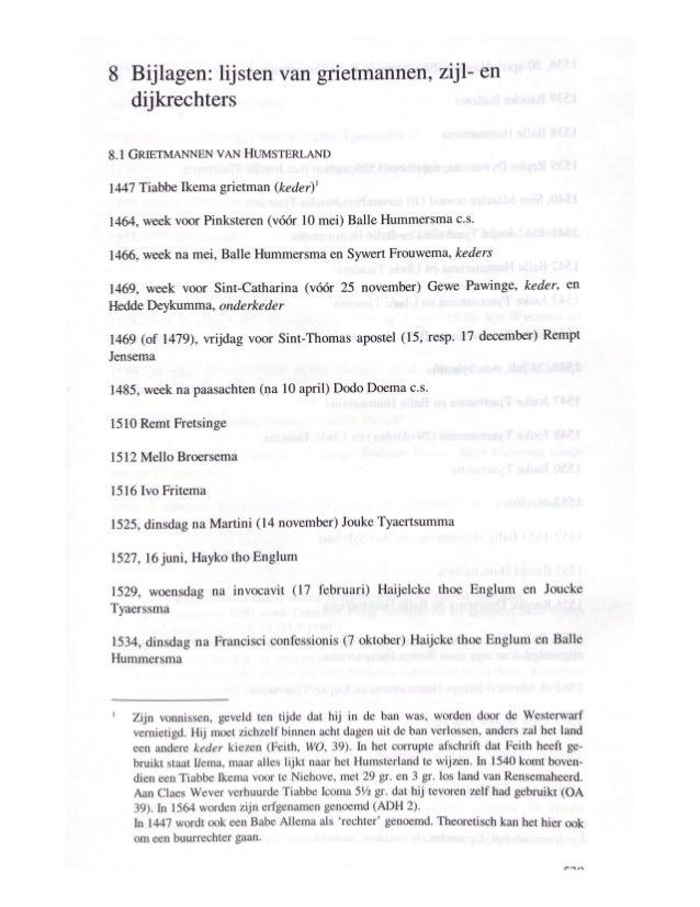 Grietmannen zijlrechters en dijkrechters Westerkwartier