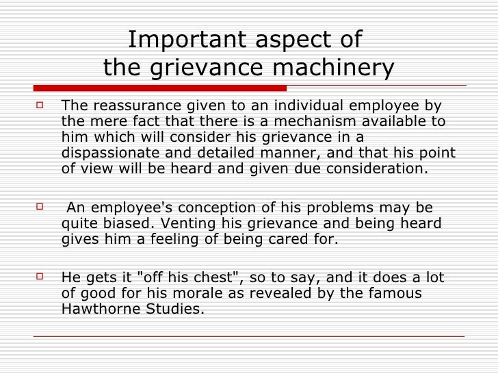 importance of grievance