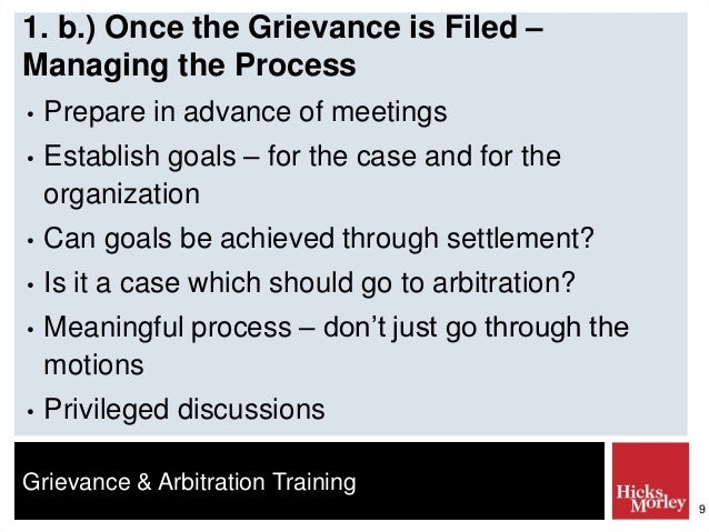 the grievance and arbitration process The supreme court opens the door to mandatory arbitration of discrimination claims for union members  be processed through the grievance and arbitration procedure.