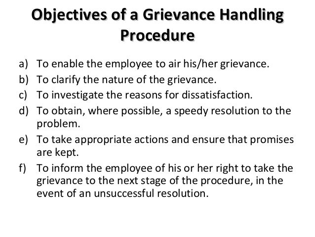 grievance handling Slide 1 grievance handling and legal limits 2017 labor relations conference on lmc's grievance handling and the legal limitations of labor-management committees.