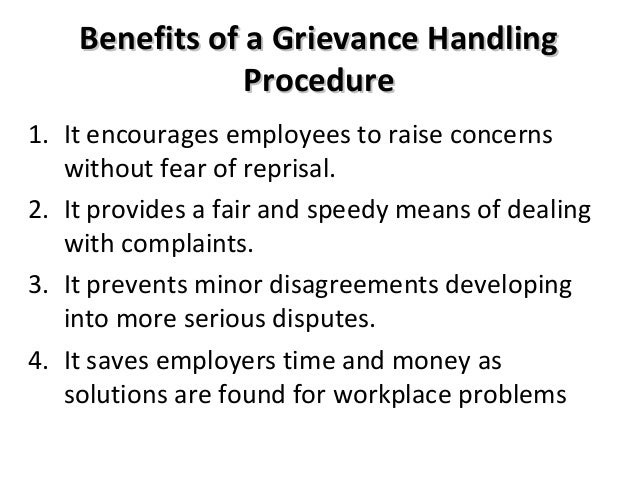 grievance procedure template
