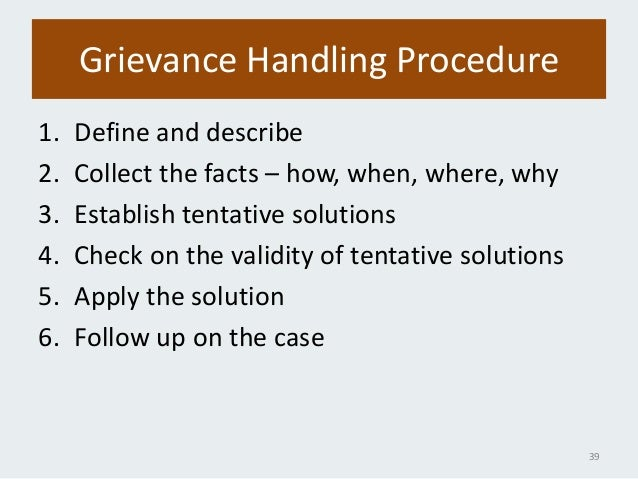 grievance handling project