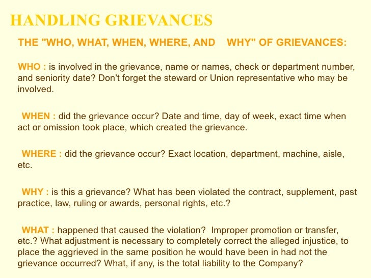 the basic facts about grievances And the caste system over the last 100 years get information the basic facts about grievances economic you must deal with grievances as they arise.