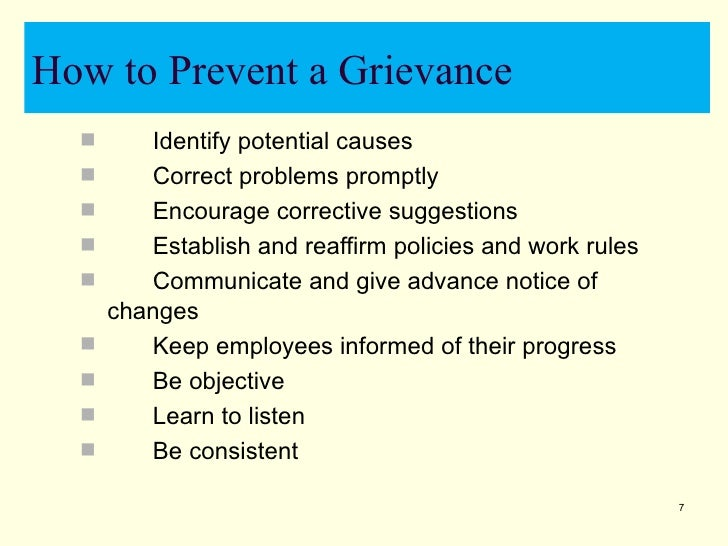 grievance at the workplace 03 04 grievances at the workplace must be based on the foundation of employer-employee relationship and employment-related for a better understanding.