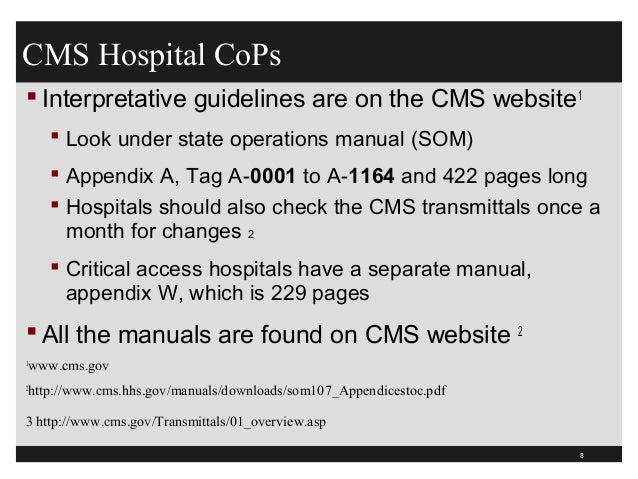 grievances complaints ex hospital rh slideshare net State Operations Manual Appendix J state operations manual appendix w 2018