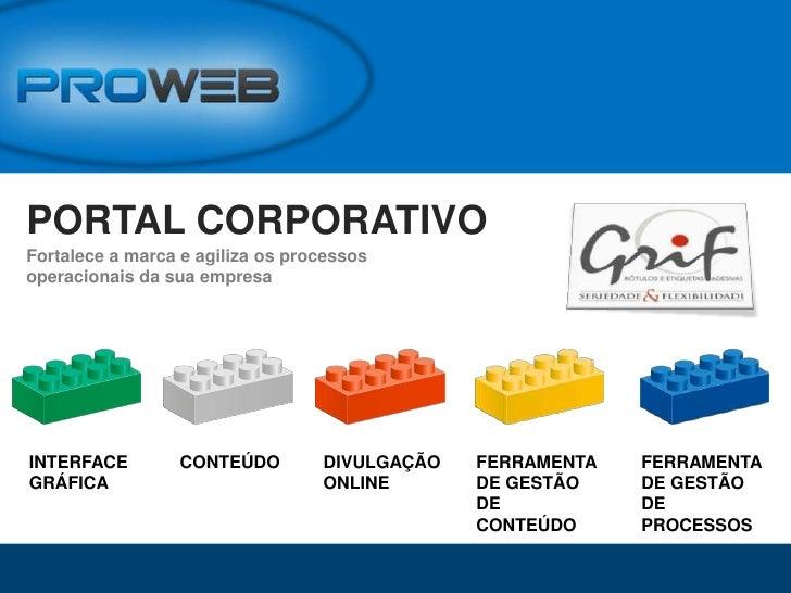 PORTAL CORPORATIVO<br />Fortalece a marca e agiliza os processos operacionais da sua empresa<br />FERRAMENTA DE GESTÃO DE ...