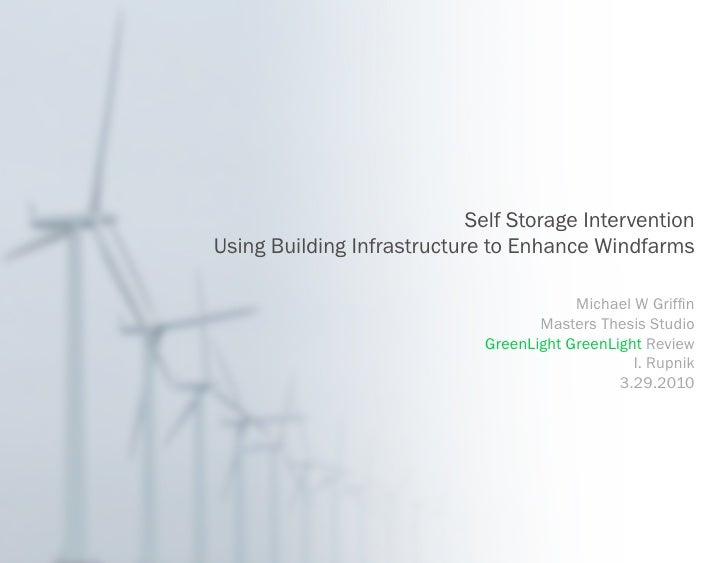 Self Storage Intervention Using Building Infrastructure to Enhance Windfarms                                           Mic...