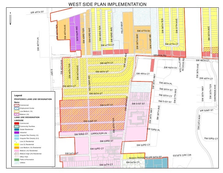 WEST SIDE PLAN IMPLEMENTATION                      SW 45TH STÜ                                                            ...