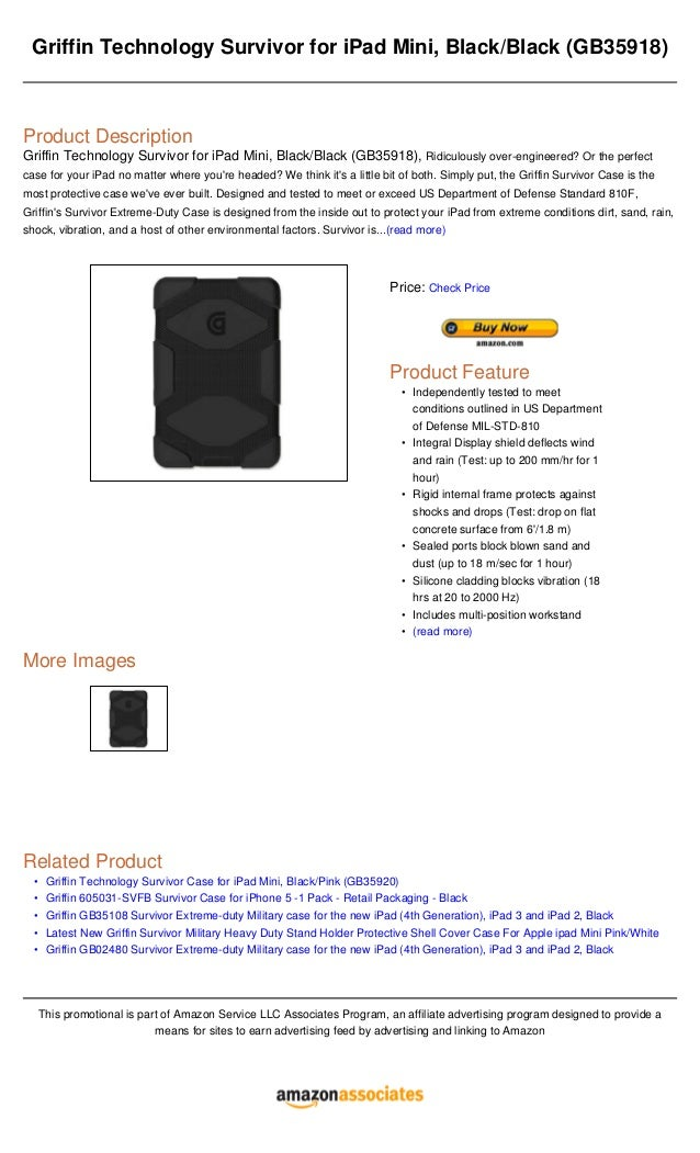 Griffin technology survivor for i pad mini, blackblack (gb35918)