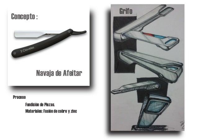Navaja de Afeitar Concepto : Grifo Proceso Materiales: Fusión de cobre y zinc Fundición de Piezas.