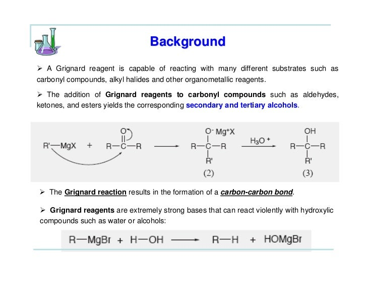 the grignard synthesis of triphenylmethanol Synthesis of primary, secondary, and tertiary alcohols from aldehydes and ketones using grignard reagents.
