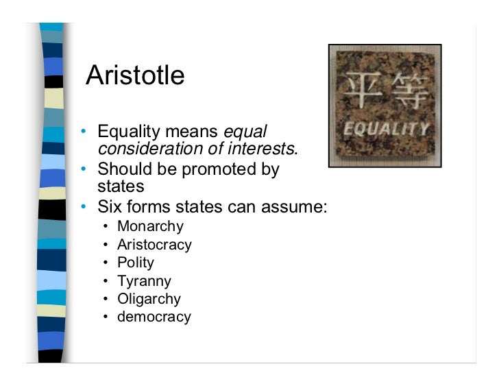 """equality as defined by aristotle tecumseh Aristotle vs hobbes: equality essay sample  the """"tragic hero"""" as defined by aristotle is an ordinary person that is both virtuous and flawed because of ."""