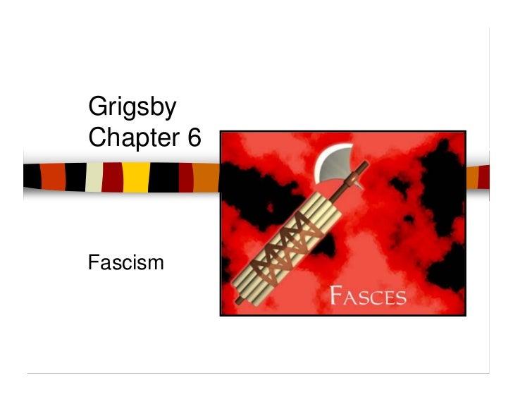 GrigsbyChapter 6Fascism