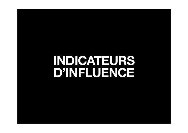 INDICATEURSD'INFLUENCE