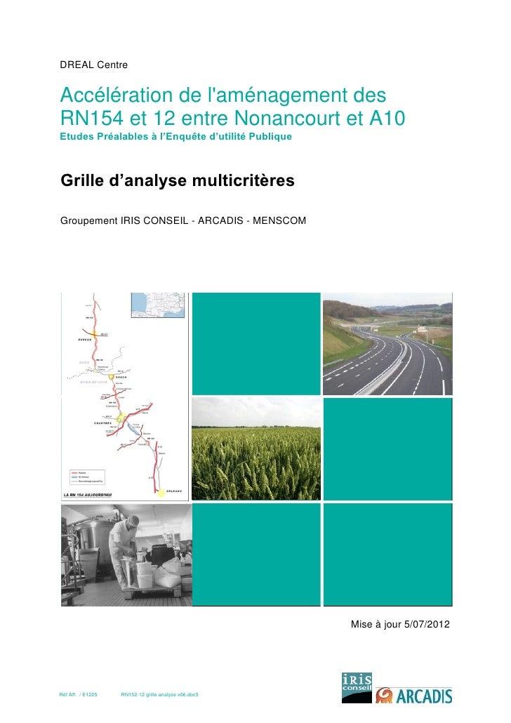 DREAL CentreAccélération de laménagement desRN154 et 12 entre Nonancourt et A10Etudes Préalables à l'Enquête d'utilité Pub...