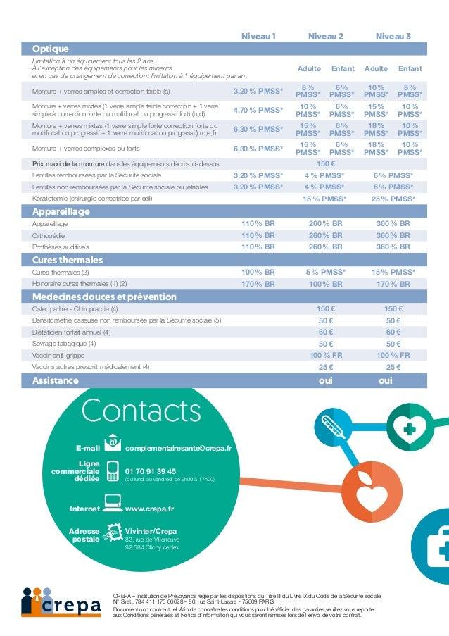 Contacts  E-mail   complementairesante@crepa.fr Ligne commerciale  01 70 91 39 45 dédiée  (du lundi au vendredi ...