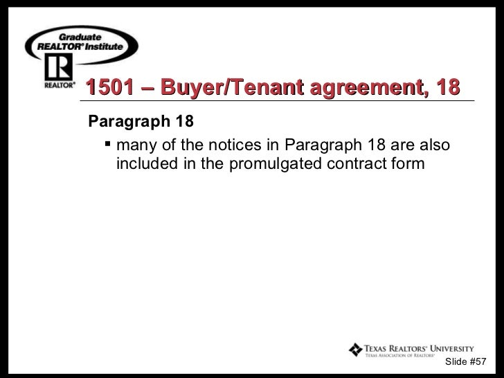 the tar intermediary relationship notice states