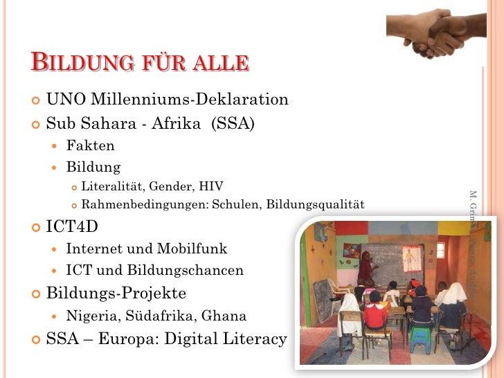 Grimus, Margarete. Lernen für ein verantwortliches Leben im globalen Horizont: Bildungsprojekte in Afrika Slide 2