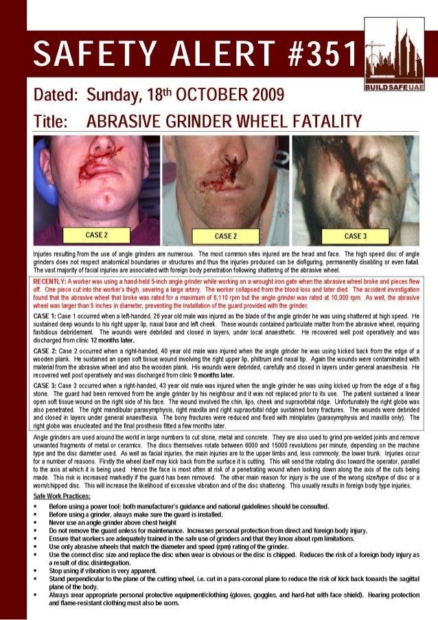 Grinder Wheel Fatality