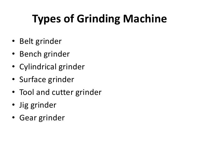 Grinding Machine Ppt