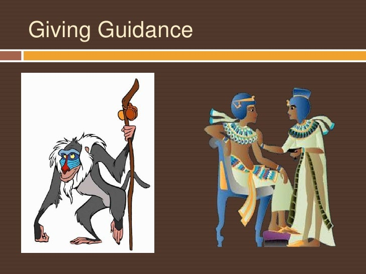 Giving Guidance <br />