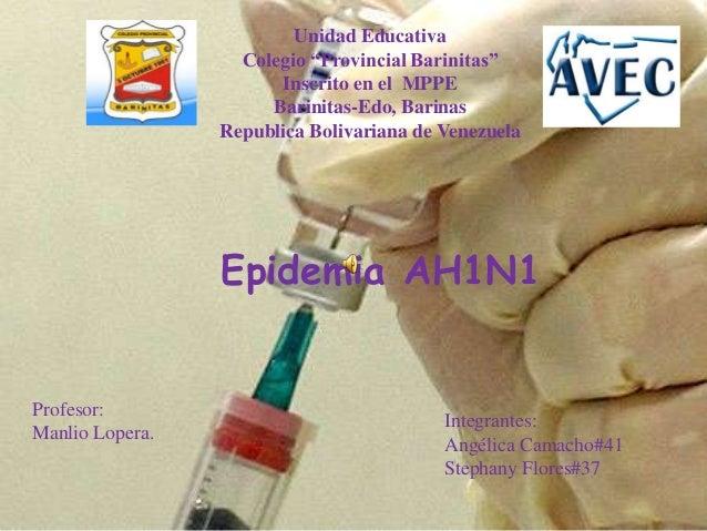 """Unidad EducativaColegio """"Provincial Barinitas""""Inscrito en el MPPEBarinitas-Edo, BarinasRepublica Bolivariana de VenezuelaE..."""