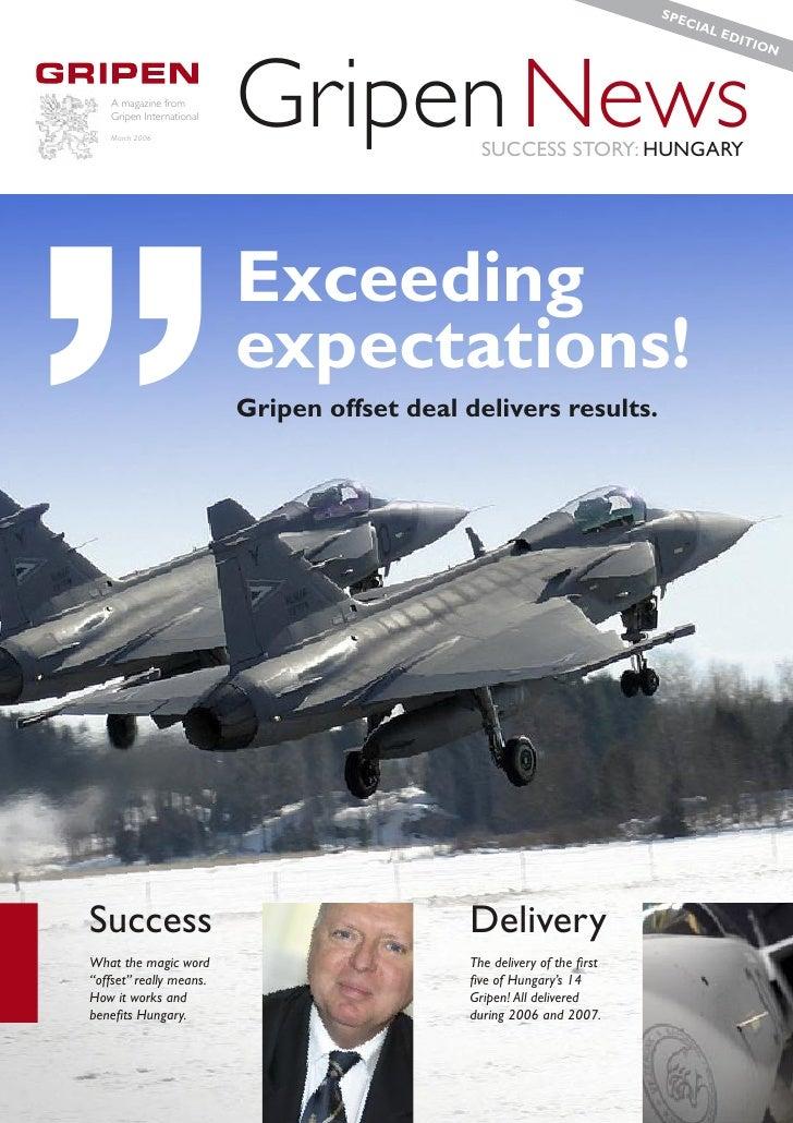 """SPE                                                                            CIA     """"  A magazine from    Gripen Intern..."""