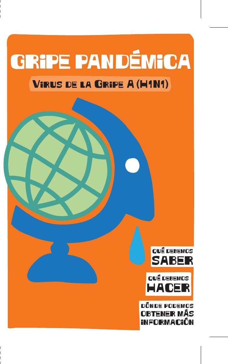 GRIPE PANDEMICA  Virus de la Gripe A (H1N1)                             QUE DEBEMOS                         SABER         ...