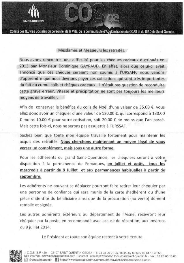 SITUATION MUTUELLE C.O.S RETRAITES Information décision du conseil d'administration en date du 23 octobre 2012 Le conseil ...