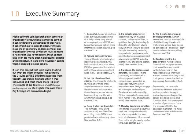 The Value of B2B Thought Leadership Survey Slide 3