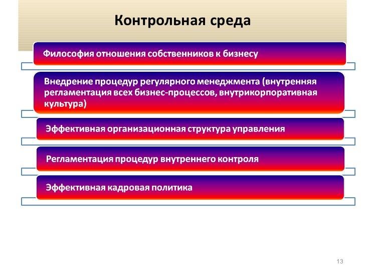 Система внутреннего контроля Контрольная среда 14