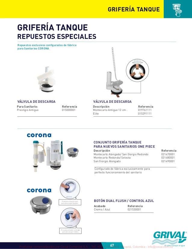 Grival 2012 catalogo plomeria 1 for Repuestos sanitarios