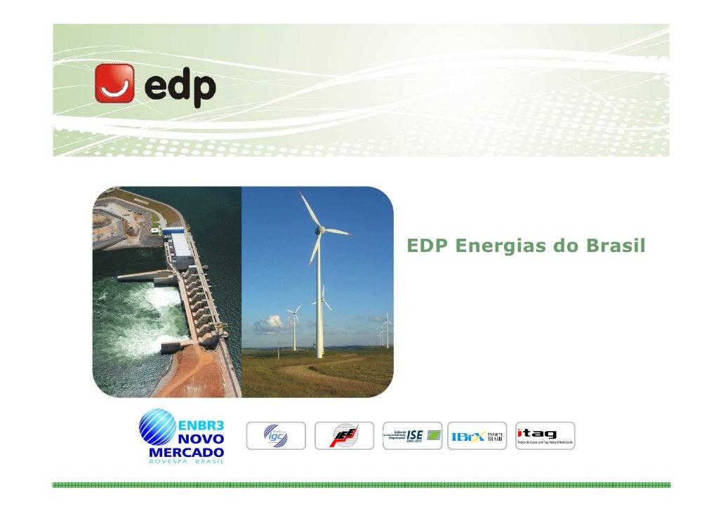 EDP Energias do Brasil     Novembro de 2009