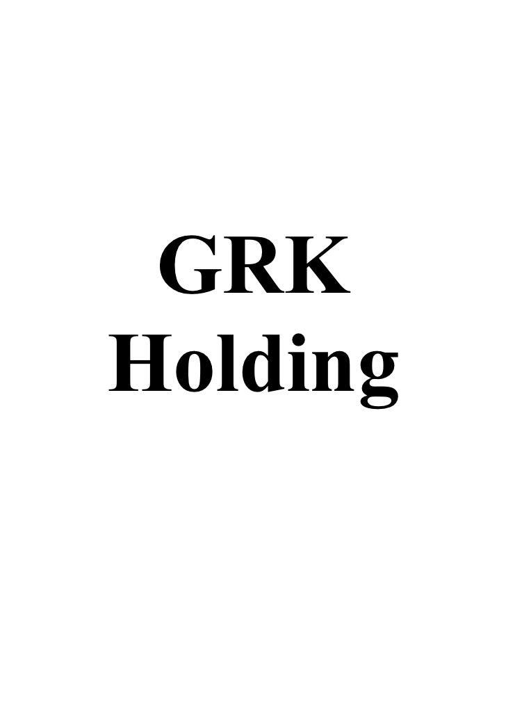 GRKHolding