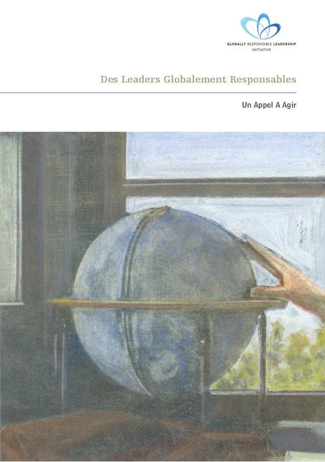 Des Leaders Globalement Responsables Un Appel A Agir