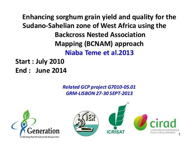 Enhancing sorghum grain yield and quality for the Sudano-Sahelian zone of West Africa using the Backcross Nested Associati...