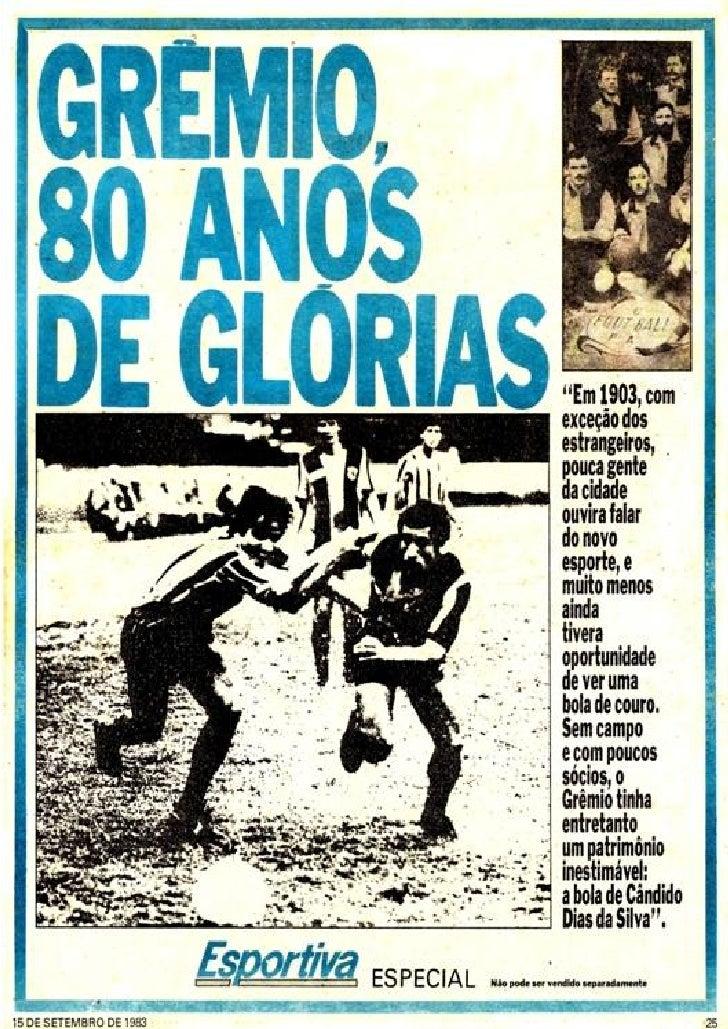Grêmio   capas de jornais das grandes conquistas