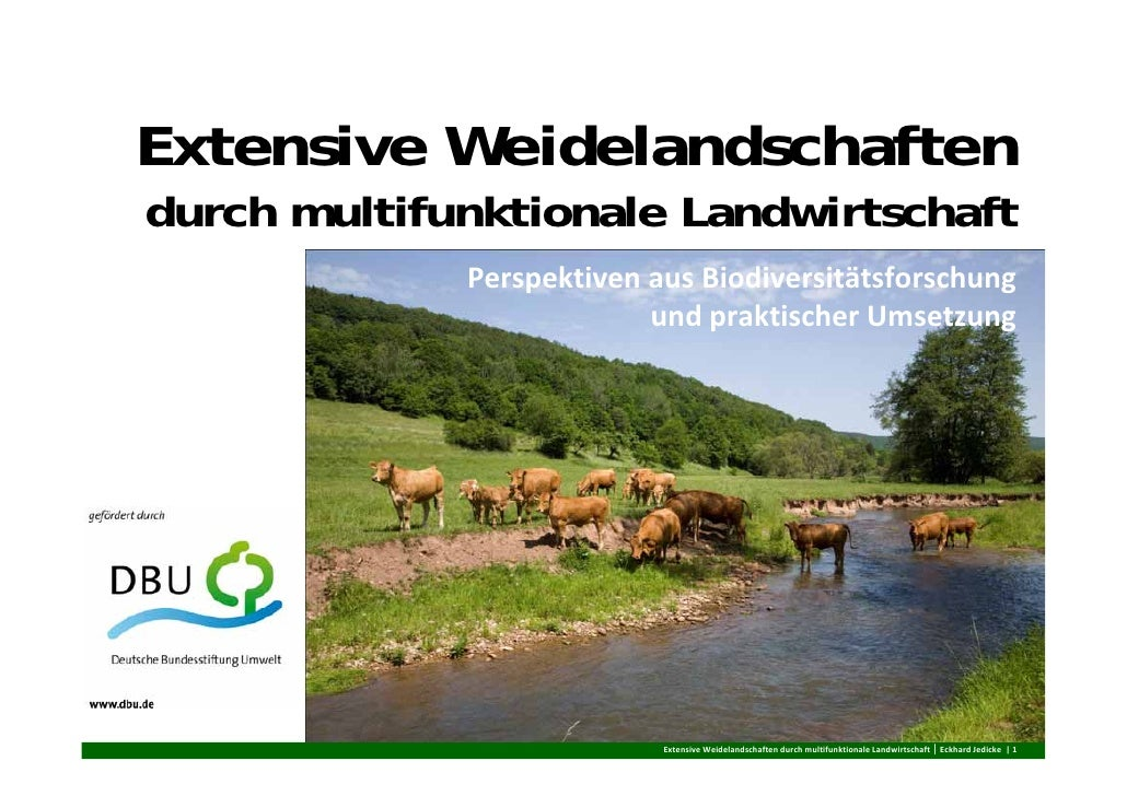 Extensive Weidelandschaftendurch multifunktionale Landwirtschaft             PerspektivenausBiodiversitätsforschung    ...