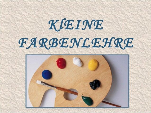 KlEINEFARBENLEHRE
