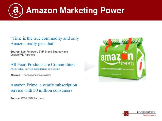 """Amazon Marketing Power """"Time is the true commodity and only Amazon really gets that"""" Source: Lee Peterson, EVP Brand Strat..."""