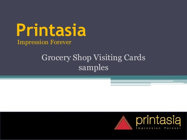 PrintasiaImpression Forever Grocery Shop Visiting Cards samples