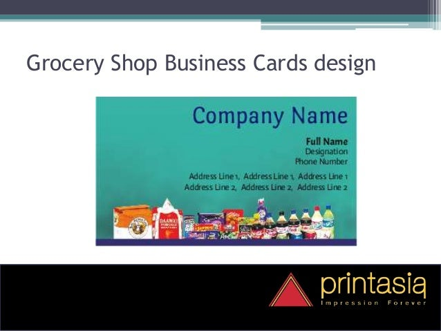 grocery shop visiting card printasia