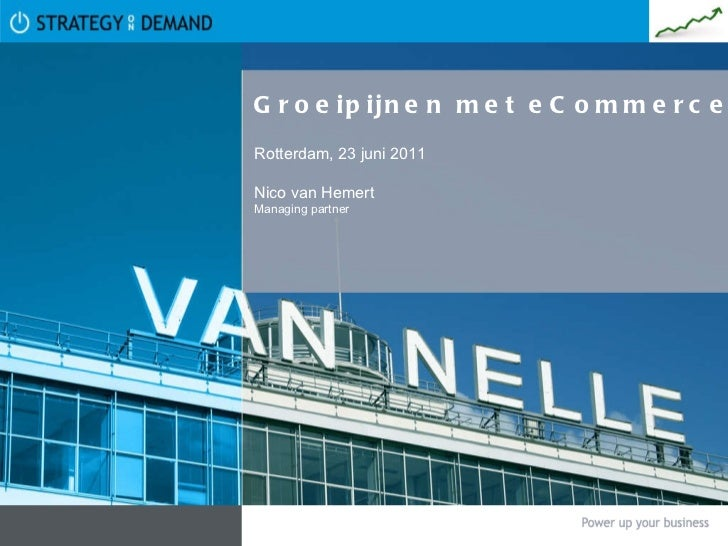 Groeipijnen met eCommerce Rotterdam, 23 juni 2011 Nico van Hemert Managing partner