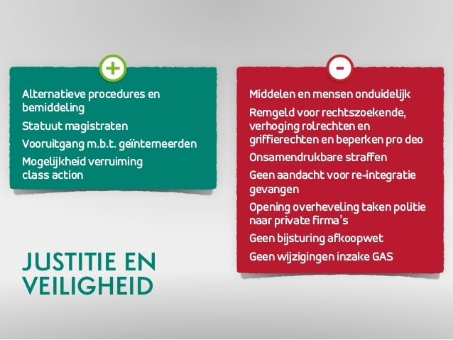 Alternatieve procedures en  bemiddeling  Statuut magistraten  Vooruitgang m.b.t. geïnterneerden  Mogelijkheid verruiming  ...