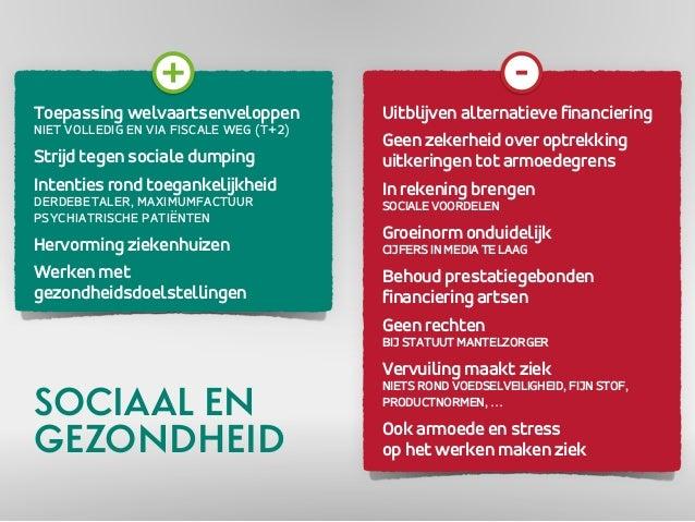 Toepassing welvaartsenveloppen  NIET VOLLEDIG EN VIA FISCALE WEG (T+2)  Strijd tegen sociale dumping  Intenties rond toega...