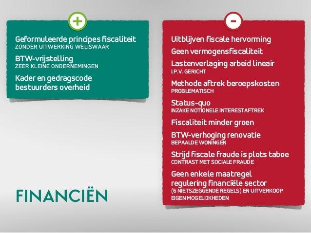 Geformuleerde principes fiscaliteit  ZONDER UITWERKING WELISWAAR  BTW-vrijstelling  ZEER KLEINE ONDERNEMINGEN  Kader en ge...